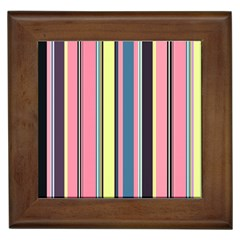 Seamless Colorful Stripes Pattern Background Wallpaper Framed Tiles