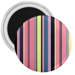 Seamless Colorful Stripes Pattern Background Wallpaper 3  Magnets