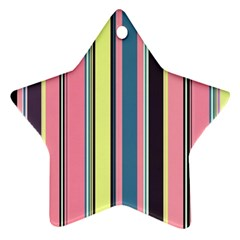 Seamless Colorful Stripes Pattern Background Wallpaper Ornament (star)