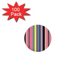 Seamless Colorful Stripes Pattern Background Wallpaper 1  Mini Buttons (100 Pack)