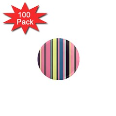 Seamless Colorful Stripes Pattern Background Wallpaper 1  Mini Magnets (100 pack)