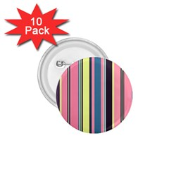 Seamless Colorful Stripes Pattern Background Wallpaper 1.75  Buttons (10 pack)