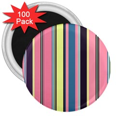Seamless Colorful Stripes Pattern Background Wallpaper 3  Magnets (100 pack)