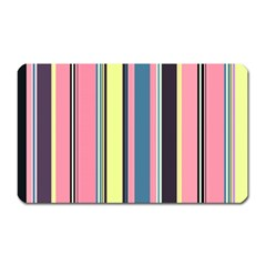 Seamless Colorful Stripes Pattern Background Wallpaper Magnet (Rectangular)