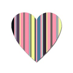 Seamless Colorful Stripes Pattern Background Wallpaper Heart Magnet