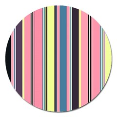 Seamless Colorful Stripes Pattern Background Wallpaper Magnet 5  (round)