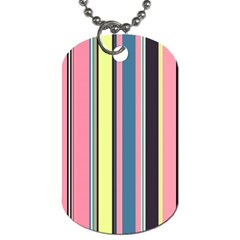 Seamless Colorful Stripes Pattern Background Wallpaper Dog Tag (One Side)