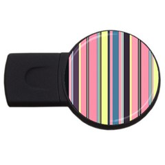 Seamless Colorful Stripes Pattern Background Wallpaper USB Flash Drive Round (2 GB)