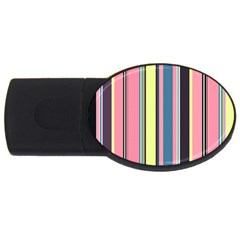 Seamless Colorful Stripes Pattern Background Wallpaper Usb Flash Drive Oval (2 Gb)