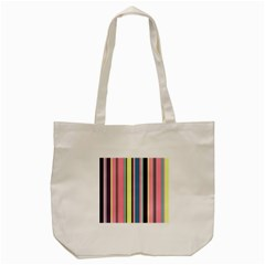 Seamless Colorful Stripes Pattern Background Wallpaper Tote Bag (Cream)