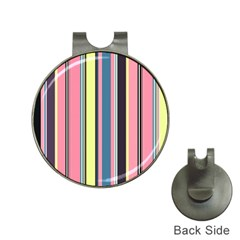 Seamless Colorful Stripes Pattern Background Wallpaper Hat Clips With Golf Markers