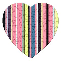 Seamless Colorful Stripes Pattern Background Wallpaper Jigsaw Puzzle (heart)