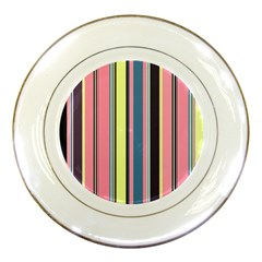 Seamless Colorful Stripes Pattern Background Wallpaper Porcelain Plates