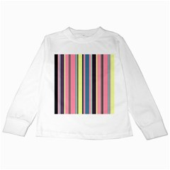 Seamless Colorful Stripes Pattern Background Wallpaper Kids Long Sleeve T-Shirts