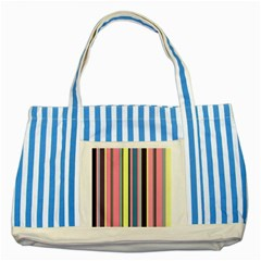 Seamless Colorful Stripes Pattern Background Wallpaper Striped Blue Tote Bag