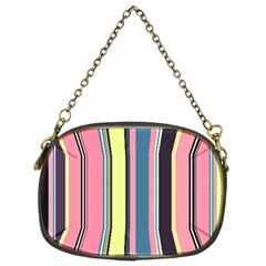 Seamless Colorful Stripes Pattern Background Wallpaper Chain Purses (Two Sides)