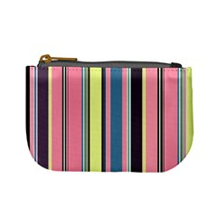 Seamless Colorful Stripes Pattern Background Wallpaper Mini Coin Purses