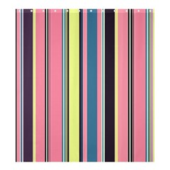 Seamless Colorful Stripes Pattern Background Wallpaper Shower Curtain 66  X 72  (large)