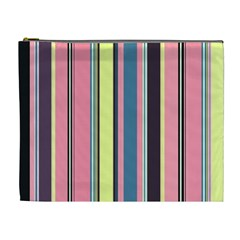 Seamless Colorful Stripes Pattern Background Wallpaper Cosmetic Bag (xl)