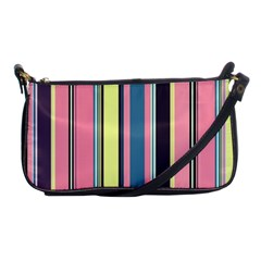 Seamless Colorful Stripes Pattern Background Wallpaper Shoulder Clutch Bags