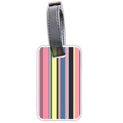 Seamless Colorful Stripes Pattern Background Wallpaper Luggage Tags (two Sides)