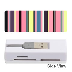 Seamless Colorful Stripes Pattern Background Wallpaper Memory Card Reader (stick)