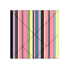 Seamless Colorful Stripes Pattern Background Wallpaper Acrylic Tangram Puzzle (4  X 4 )