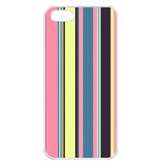 Seamless Colorful Stripes Pattern Background Wallpaper Apple Iphone 5 Seamless Case (white)