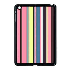 Seamless Colorful Stripes Pattern Background Wallpaper Apple iPad Mini Case (Black)