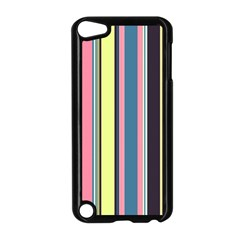 Seamless Colorful Stripes Pattern Background Wallpaper Apple Ipod Touch 5 Case (black)