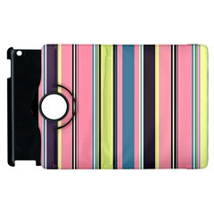 Seamless Colorful Stripes Pattern Background Wallpaper Apple iPad 3/4 Flip 360 Case