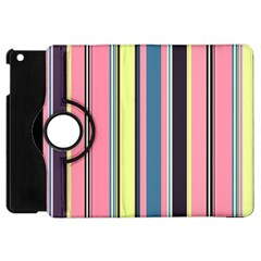 Seamless Colorful Stripes Pattern Background Wallpaper Apple iPad Mini Flip 360 Case