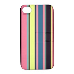 Seamless Colorful Stripes Pattern Background Wallpaper Apple Iphone 4/4s Hardshell Case With Stand