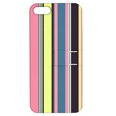 Seamless Colorful Stripes Pattern Background Wallpaper Apple iPhone 5 Hardshell Case with Stand