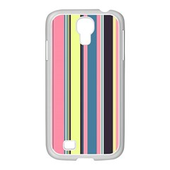 Seamless Colorful Stripes Pattern Background Wallpaper Samsung GALAXY S4 I9500/ I9505 Case (White)