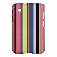 Seamless Colorful Stripes Pattern Background Wallpaper Samsung Galaxy Tab 2 (7 ) P3100 Hardshell Case