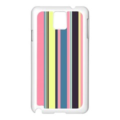 Seamless Colorful Stripes Pattern Background Wallpaper Samsung Galaxy Note 3 N9005 Case (White)