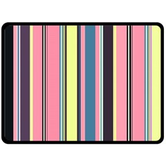 Seamless Colorful Stripes Pattern Background Wallpaper Double Sided Fleece Blanket (Large)