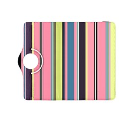 Seamless Colorful Stripes Pattern Background Wallpaper Kindle Fire HDX 8.9  Flip 360 Case