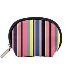 Seamless Colorful Stripes Pattern Background Wallpaper Accessory Pouches (Small)
