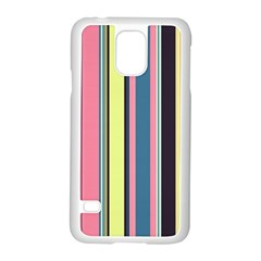 Seamless Colorful Stripes Pattern Background Wallpaper Samsung Galaxy S5 Case (White)