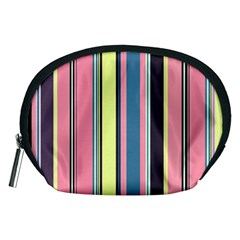 Seamless Colorful Stripes Pattern Background Wallpaper Accessory Pouches (medium)