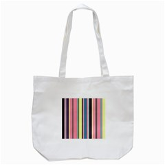 Seamless Colorful Stripes Pattern Background Wallpaper Tote Bag (White)