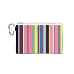 Seamless Colorful Stripes Pattern Background Wallpaper Canvas Cosmetic Bag (s)
