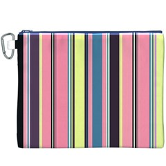 Seamless Colorful Stripes Pattern Background Wallpaper Canvas Cosmetic Bag (xxxl)