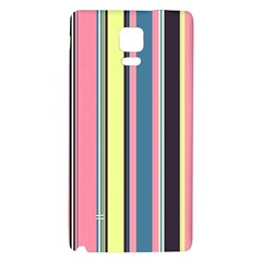 Seamless Colorful Stripes Pattern Background Wallpaper Galaxy Note 4 Back Case