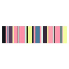 Seamless Colorful Stripes Pattern Background Wallpaper Satin Scarf (Oblong)