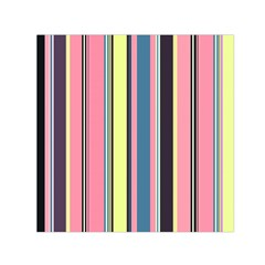 Seamless Colorful Stripes Pattern Background Wallpaper Small Satin Scarf (Square)