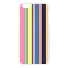 Seamless Colorful Stripes Pattern Background Wallpaper Apple Seamless iPhone 6 Plus/6S Plus Case (Transparent)