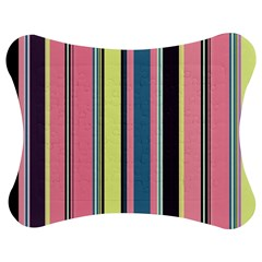 Seamless Colorful Stripes Pattern Background Wallpaper Jigsaw Puzzle Photo Stand (bow)